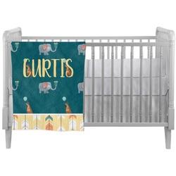 Animal Friend Birthday Crib Comforter / Quilt (Personalized)