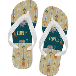 Animal Friend Birthday Flip Flops (Personalized)