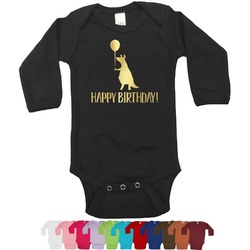 Animal Friend Birthday Foil Bodysuit - Long Sleeves - 6-12 months - Gold, Silver or Rose Gold (Personalized)