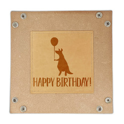 Animal Friend Birthday Genuine Leather Valet Tray (Personalized)