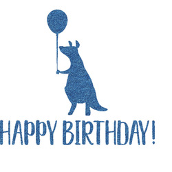 Animal Friend Birthday Glitter Sticker Decal - Custom Sized (Personalized)
