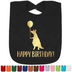 Animal Friend Birthday Foil Toddler Bibs (Select Foil Color) (Personalized)