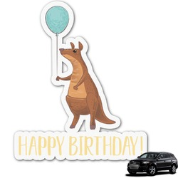Animal Friend Birthday Graphic Car Decal (Personalized)