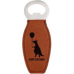 Animal Friend Birthday Leatherette Bottle Opener (Personalized)