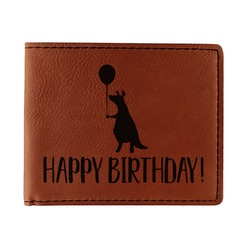 Animal Friend Birthday Leatherette Bifold Wallet - Single Sided (Personalized)