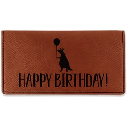 Animal Friend Birthday Leatherette Checkbook Holder - Double Sided (Personalized)