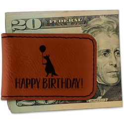 Animal Friend Birthday Leatherette Magnetic Money Clip (Personalized)