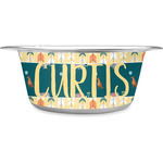 Animal Friend Birthday Stainless Steel Dog Bowl (Personalized)
