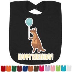 Animal Friend Birthday Baby Bib - 14 Bib Colors (Personalized)