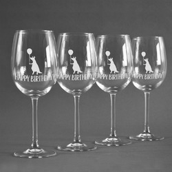 Animal Friend Birthday Wineglasses (Set of 4) (Personalized)