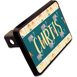 "Animal Friend Birthday Rectangular Trailer Hitch Cover - 2"" (Personalized)"
