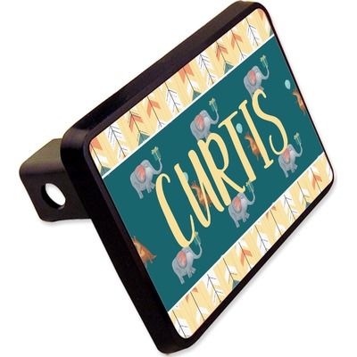"""Animal Friend Birthday Rectangular Trailer Hitch Cover - 2"""" (Personalized)"""