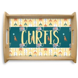 Animal Friend Birthday Natural Wooden Tray (Personalized)