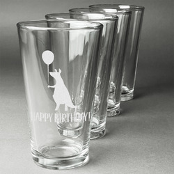 Animal Friend Birthday Beer Glasses (Set of 4) (Personalized)