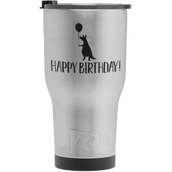 Animal Friend Birthday RTIC Tumbler - Silver - Engraved Front (Personalized)