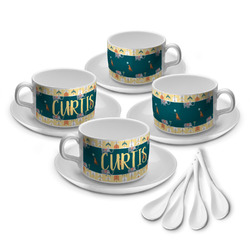 Animal Friend Birthday Tea Cup - Set of 4 (Personalized)