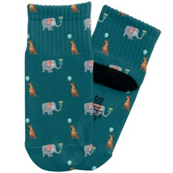 Animal Friend Birthday Toddler Ankle Socks (Personalized)