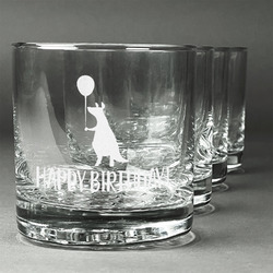 Animal Friend Birthday Whiskey Glasses (Set of 4) (Personalized)