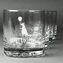 Animal Friend Birthday Whiskey Glasses (Set of 4) (Personalized)