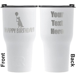 Animal Friend Birthday RTIC Tumbler - White - Engraved Front & Back (Personalized)