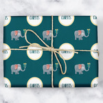 Animal Friend Birthday Wrapping Paper (Personalized)