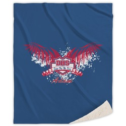 DHS Wings and Badge Sherpa Throw Blanket (Personalized)