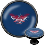 DHS Wings and Badge Cabinet Knob (Black) (Personalized)