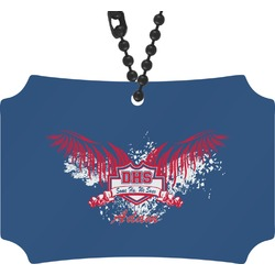DHS Wings and Badge Rear View Mirror Ornament (Personalized)