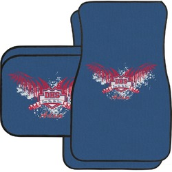 DHS Wings and Badge Car Floor Mats Set - 2 Front & 2 Back (Personalized)