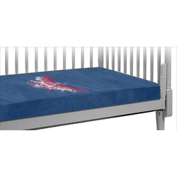 DHS Wings and Badge Crib Fitted Sheet (Personalized)