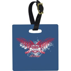 DHS Wings and Badge Square Luggage Tag (Personalized)