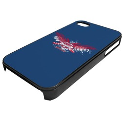 DHS Wings and Badge Plastic 4/4S iPhone Case (Personalized)