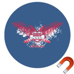 DHS Wings and Badge Round Car Magnet (Personalized)