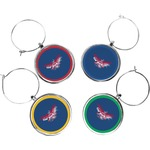 DHS Wings and Badge Wine Charms (Set of 4) (Personalized)