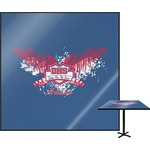 DHS Wings and Badge Square Table Top (Personalized)