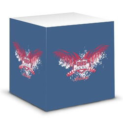 DHS Wings and Badge Sticky Note Cube (Personalized)