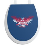 DHS Wings and Badge Toilet Seat Decal (Personalized)