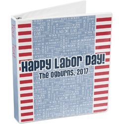 Labor Day 3-Ring Binder (Personalized)