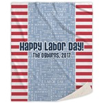 Labor Day Sherpa Throw Blanket (Personalized)