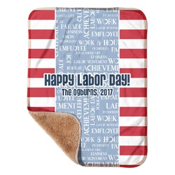 """Labor Day Sherpa Baby Blanket 30"""" x 40"""" (Personalized)"""