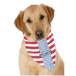 Labor Day Dog Bandana Scarf w/ Name or Text