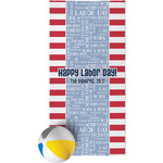 Labor Day Beach Towel (Personalized)