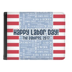 Labor Day Genuine Leather Men's Bi-fold Wallet (Personalized)