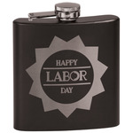 Labor Day Black Flask Set (Personalized)