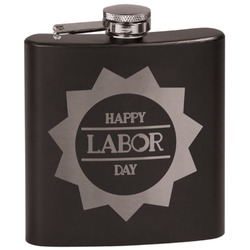 Labor Day Black Flask (Personalized)