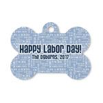 Labor Day Bone Shaped Dog ID Tag (Personalized)