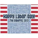 Labor Day Woven Fabric Placemat - Twill w/ Name or Text