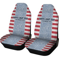 Labor Day Car Seat Covers (Set of Two) (Personalized)