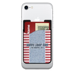 Labor Day 2-in-1 Cell Phone Credit Card Holder & Screen Cleaner (Personalized)