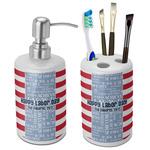 Labor Day Ceramic Bathroom Accessories Set (Personalized)
